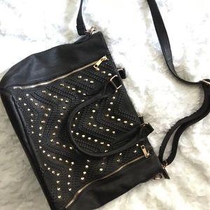 Francesca's black handbag-messenger or hand held